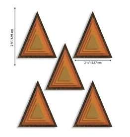 Sizzix Sizzix Thinlits Die Set - Stacked Tiles Triangles 25PK 664748 Tim Holtz