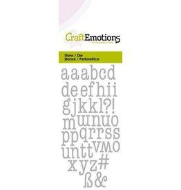 Craft Emotions CraftEmotions Die - alfabet typewriter kleine letters Card 5x10cm 9mm - 12mm