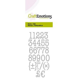 Craft Emotions CraftEmotions Die - typewriter cijfers Card 5x10cm 12mm