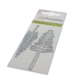 Craft Emotions CraftEmotions Die - kerstbomen met hoge stam Card 5x10cm