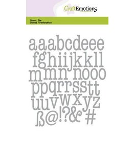 Craft Emotions CraftEmotions Die - alfabet typewriter kleine letters Card 10,5x14,8cm 14,5mm - 20mm