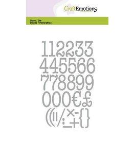 Craft Emotions CraftEmotions Die - typewriter cijfers Card 10,5x14,8cm 20mm