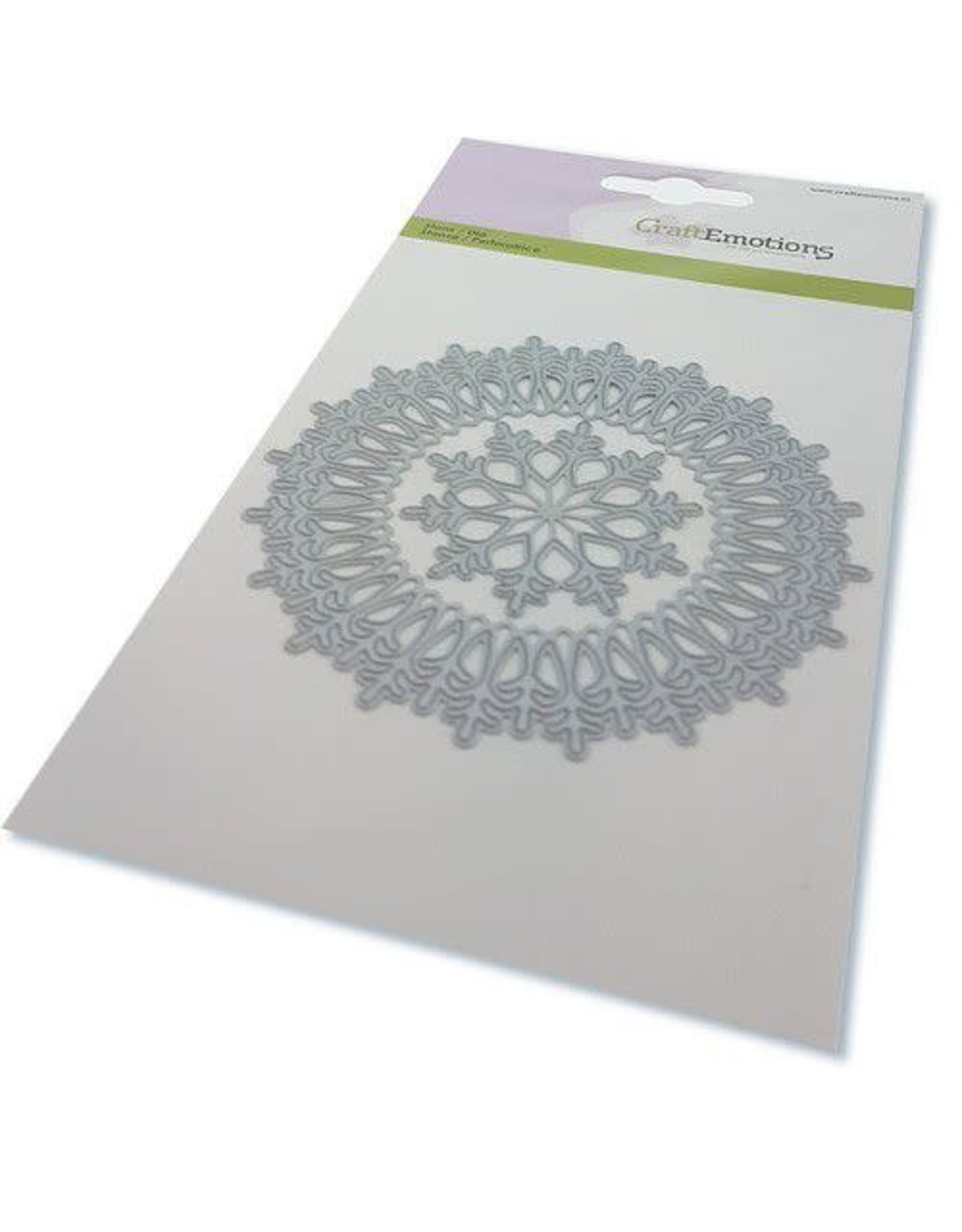 Craft Emotions CraftEmotions Die - border rond magic ice crystal Card 10,5x14,8cm