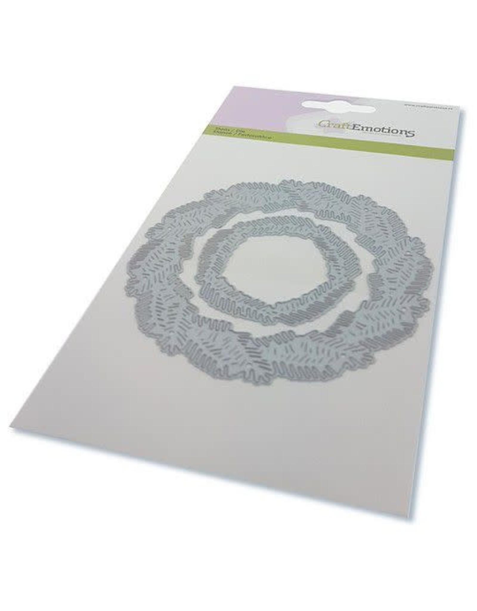 Craft Emotions CraftEmotions Die - krans van dennentakken Card 10,5x14,8cm