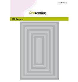 Craft Emotions CraftEmotions Big Nesting Die - rechthoeken Card 150x160 - 6,6-15,0cm