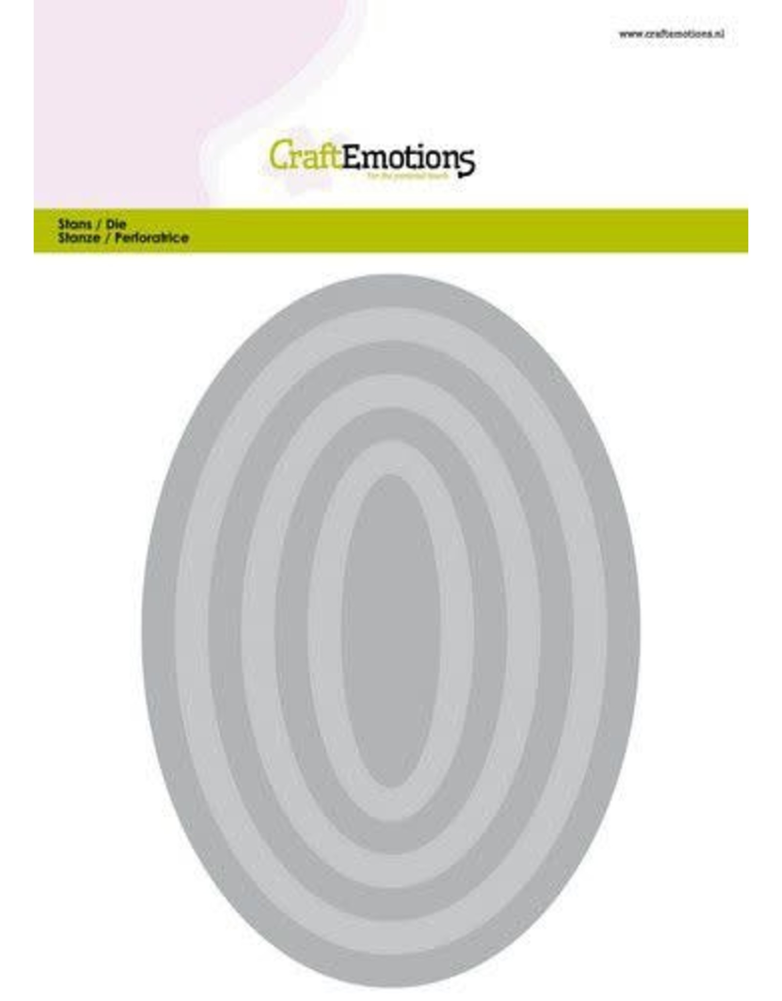 Craft Emotions CraftEmotions Big Nesting Die - ovalen Card 150x160 - 6,6-15,0cm