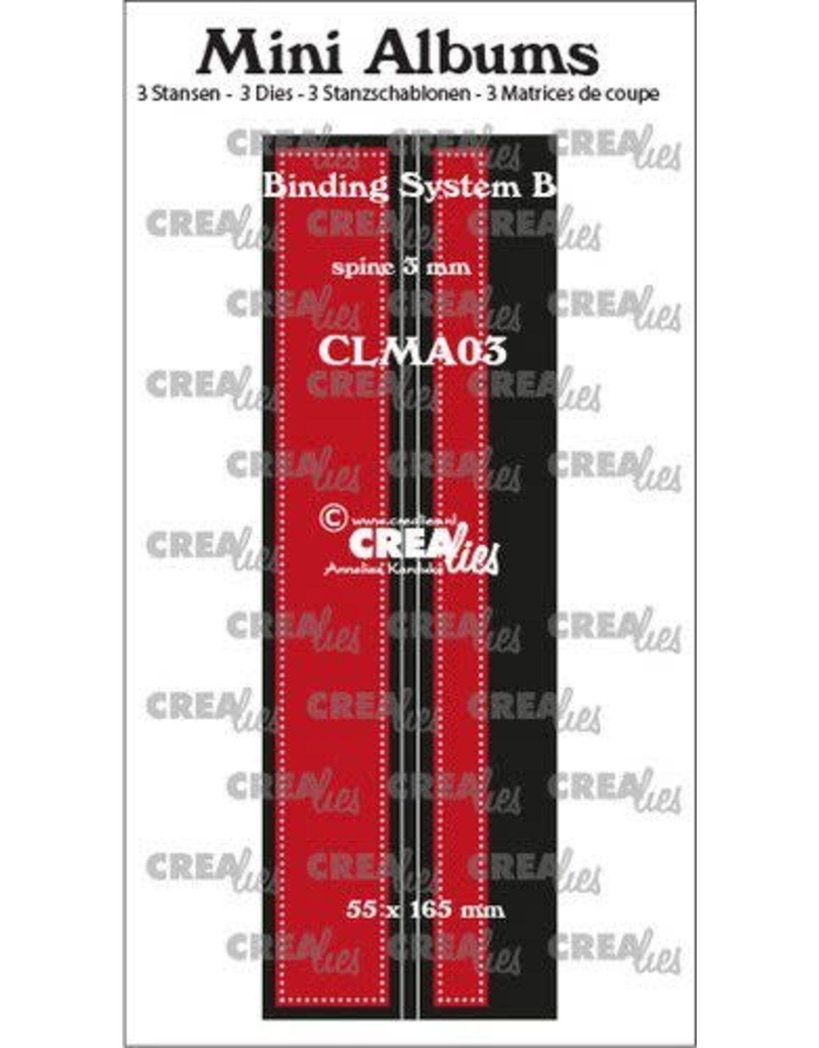 Crealies Crealies stans Mini Albums Bindsysteem B CLMA03 55x165 mm