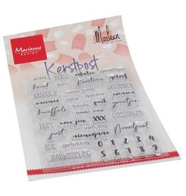 Marianne Design Marianne D Clear Stamps Kerst Post by Marleen (NL) CS1069 102x180