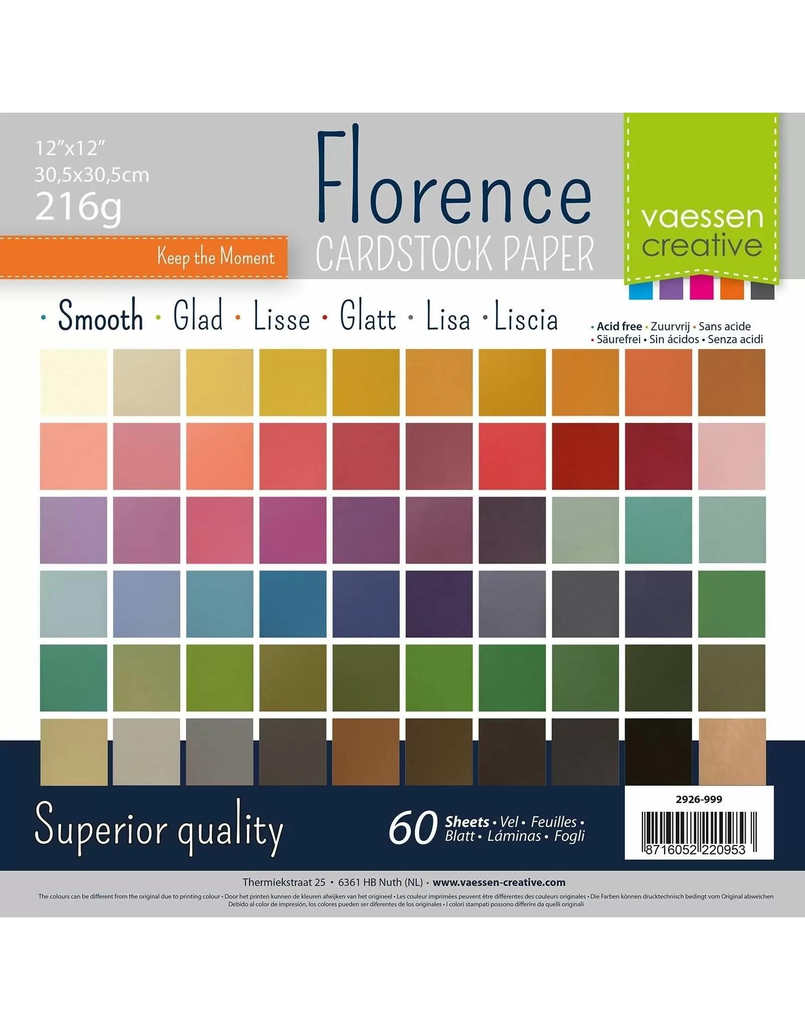 Vaessen Creative Florence • Cardstock smooth multipack 30,5x30,5cm Assorti