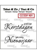 Crealies Crealies Clearstamp Tekst & Zo Font Kerst no. 1 (NL) CLTZDFK01 2x 15 x 42 mm