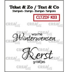 Crealies Crealies Clearstamp Tekst & Zo Duo Font Kerst 03 (NL) CLTZDFK03 40x9mm - 29x16mm