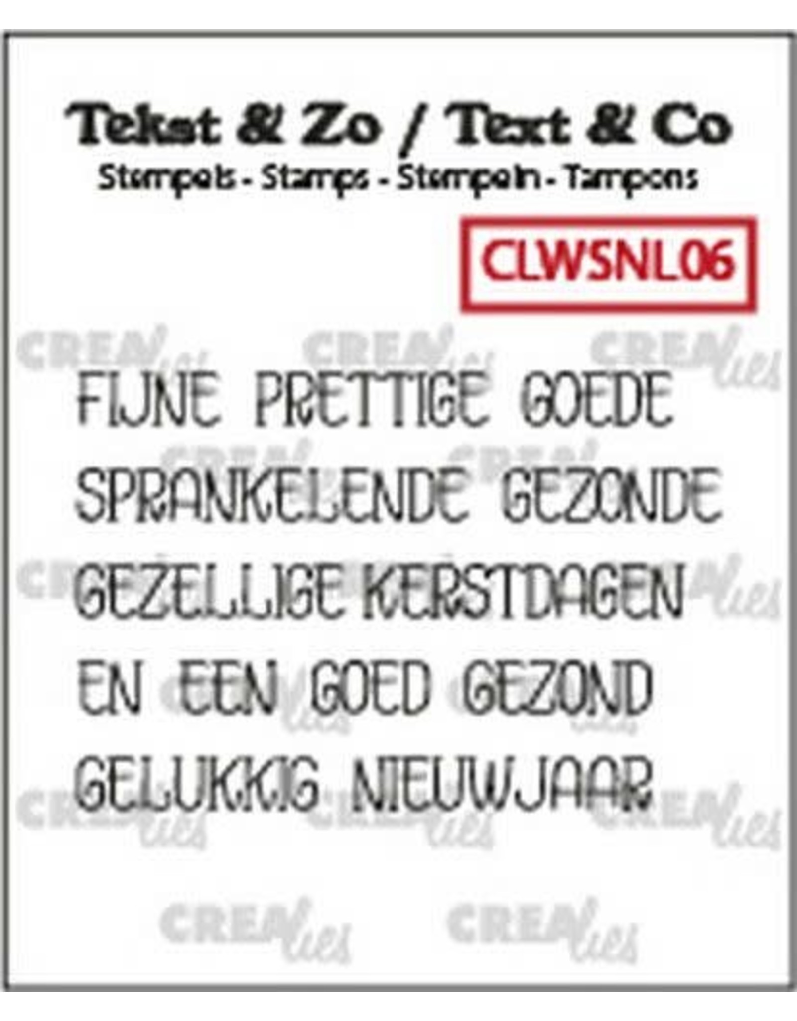 Crealies Crealies Clearstamp Tekst & Zo woordstrips KERST (NL) CLWSNL06 5x 4x45mm