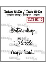 Crealies Crealies Clearstamp Tekst&Zo 3x Beterschap 10 (NL) CLTZBE10 max. 29 mm