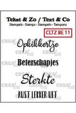 Crealies Crealies Clearstamp Tekst&Zo 4x Beterschap 11 (NL) CLTZBE11 max. 30 mm