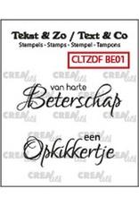 Crealies Crealies Clearstamp Tekst & Zo Font Beterschap no. 1 (NL) CLTZDFBE01 2x 15 x 42 mm
