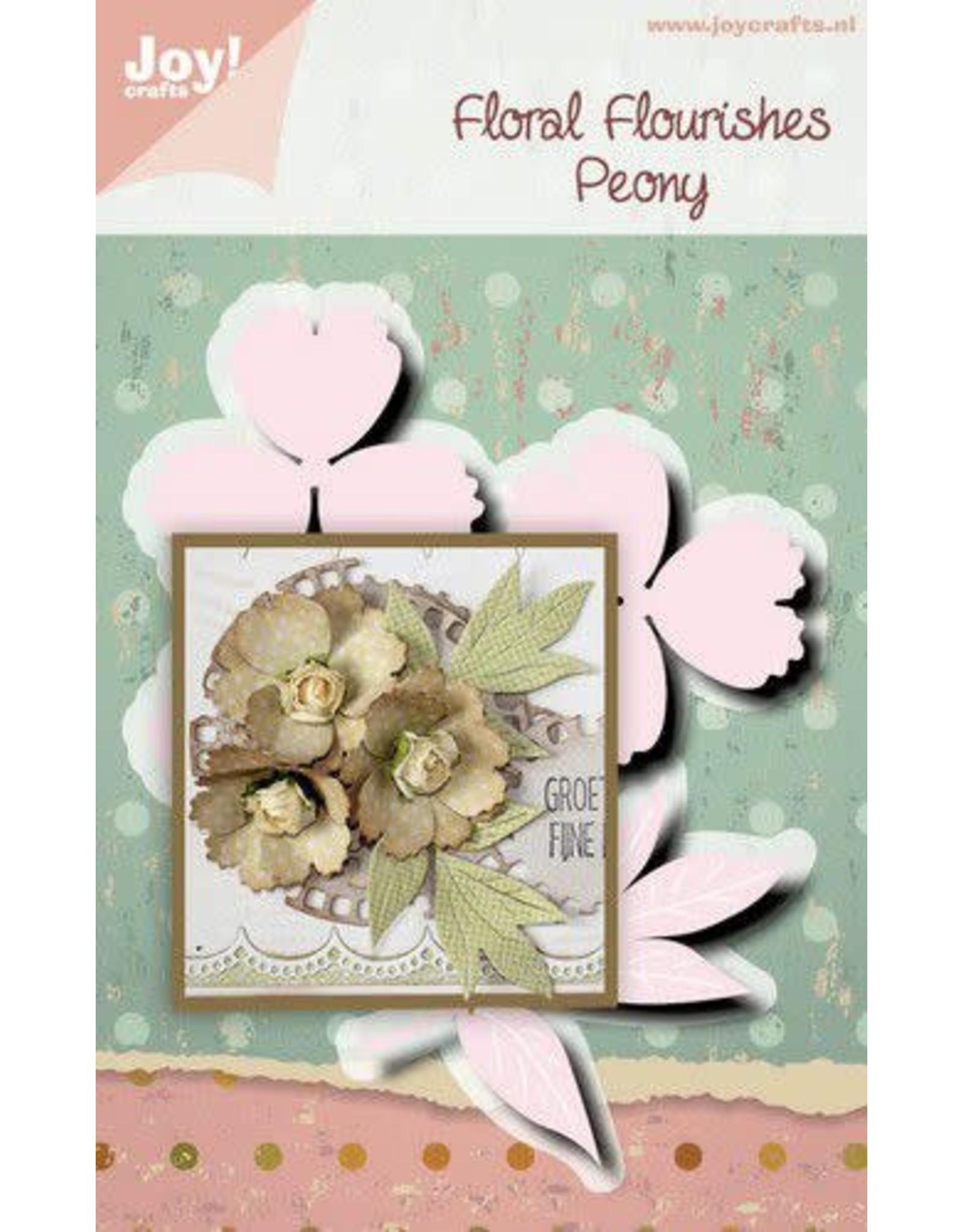Joy Craft Joy! Crafts Snijstansmal - Noor - FF - Pioenroos 6002/1514 112x85,5 mm