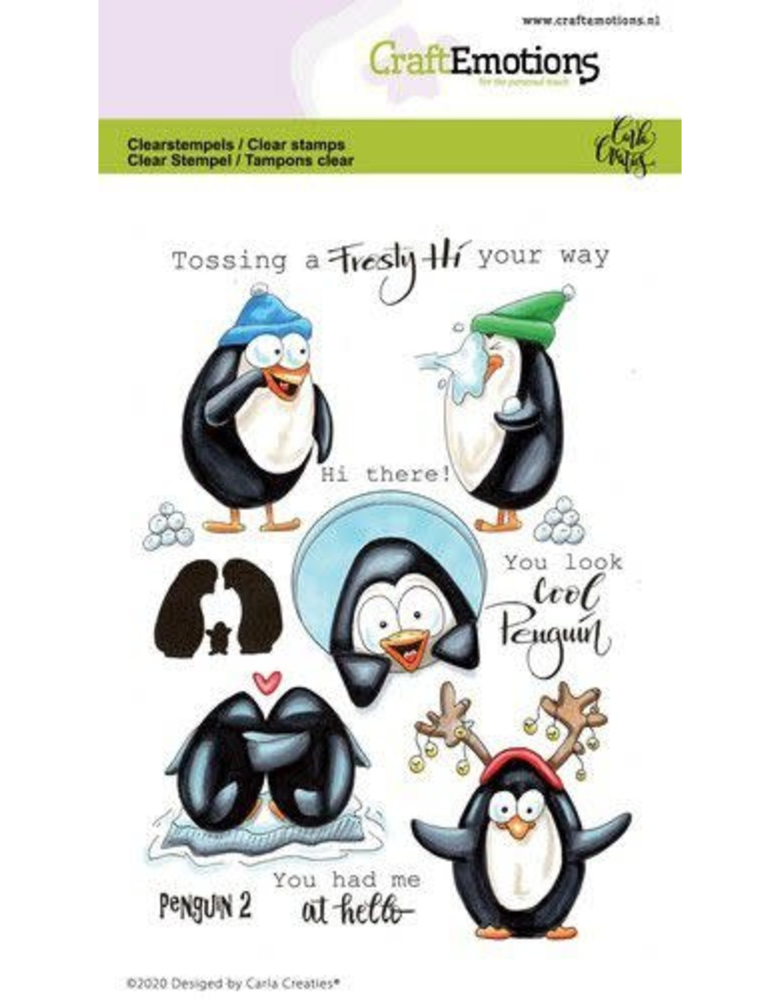 Craft Emotions CraftEmotions clearstamps A6 - Penguin 2 Carla Creaties