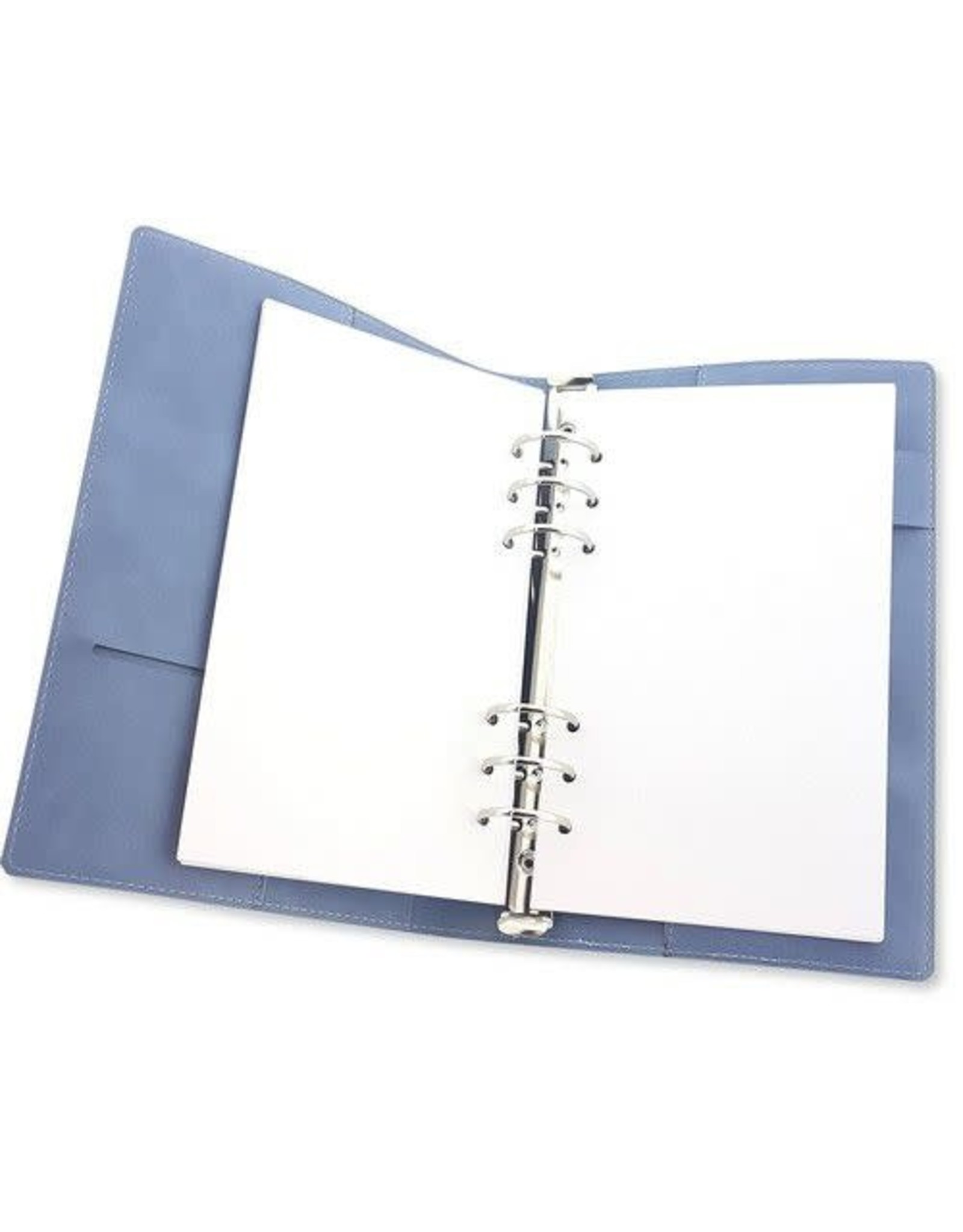 Craft Emotions CraftEmotions Ringband Planner - voor papier A5-148x210mm - Jeans – lichtblauw PU leather - Paper not included