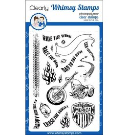 Whimsy Stamps Whimsy Stamps Biker Bad to the Bone Clear Stamps CWSD177