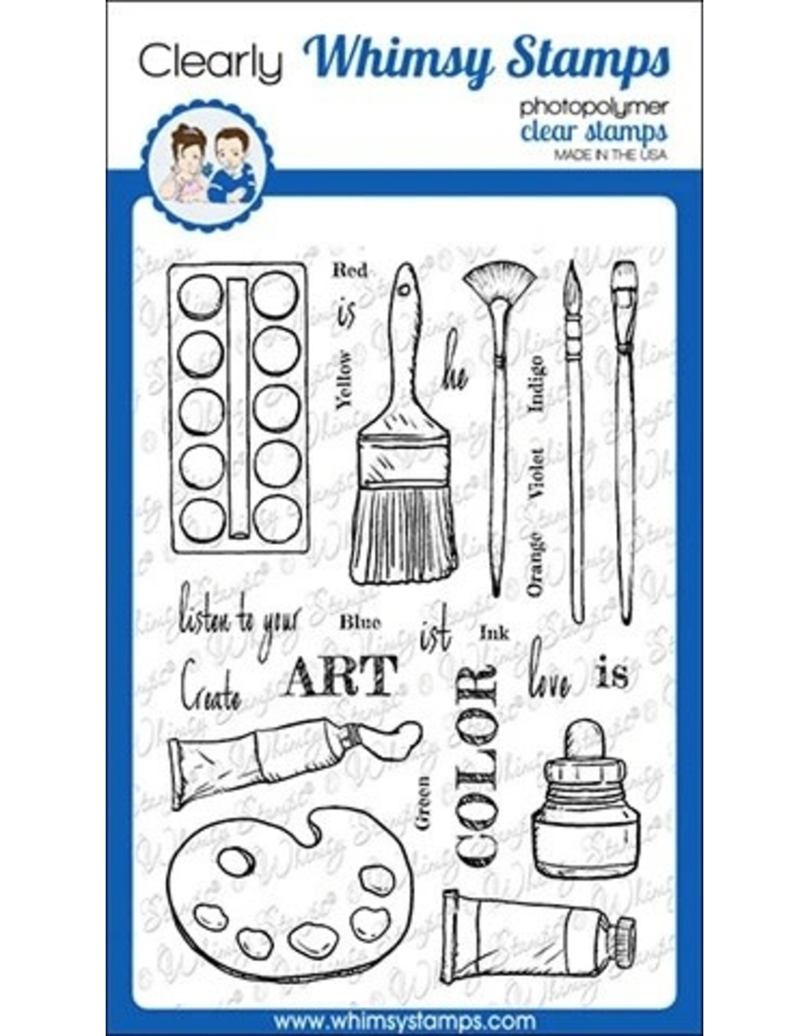 Whimsy Stamps Whimsy Stamps Artist Toolkit Clear Stamps CWSD254