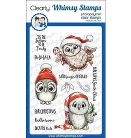 Whimsy Stamps Whimsy Stamps Happy Owlidays Too Clear Stamps C1349