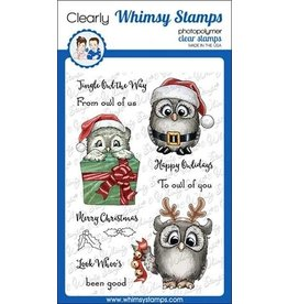 Whimsy Stamps Whimsy Stamps Happy Owlidays Clear Stamps C1344
