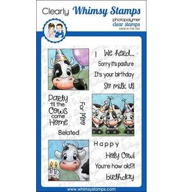 Whimsy Stamps Whimsy Stamps Cow Party Clear Stamps C1321