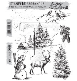 Stampers Anonymous Stampers Anonymous Tim Holtz Cling Mount Stamps: Winterscape CMS428