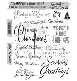 Stampers Anonymous Stampers Anonymous Tim Holtz Cling Mount Stamps: Christmastime 3 CMS427