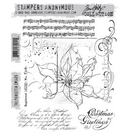 Stampers Anonymous Stampers Anonymous Tim Holtz Cling Mount Stamps: The Poinsettia CMS426