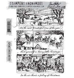 Stampers Anonymous Stampers Anonymous Tim Holtz Cling Mount Stamps:  Holiday Scenes CMS425