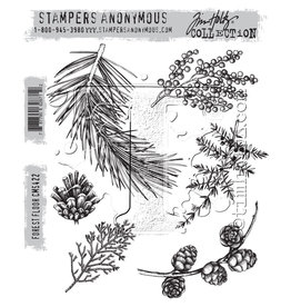 Stampers Anonymous Stampers Anonymous Tim Holtz Cling Mount Stamps:  Forest Floor CMS422