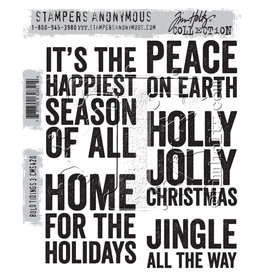Stampers Anonymous Stampers Anonymous Tim Holtz Cling Mount Stamps:  Bold Tiding 3 CMS420