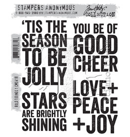Stampers Anonymous Stampers Anonymous Tim Holtz Cling Mount Stamps:  Bold Tiding 1 CMS418