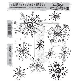 Stampers Anonymous Stampers Anonymous Tim Holtz Cling Mount Stamps - Retro Flakes CMS417