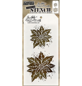 Stampers Anonymous Stampers Anonymous Tim Holtz Layering Stencil: Poinsettia Duo - THS153