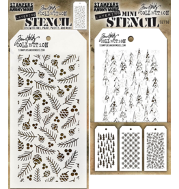 Stampers Anonymous Stampers Anonymous Tim Holtz Mini Layering Stencil Set #50 - MST050