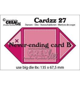 Crealies Crealies Cardzz Oneindige kaart B CLCZ27 13,5 x 13,5 cm