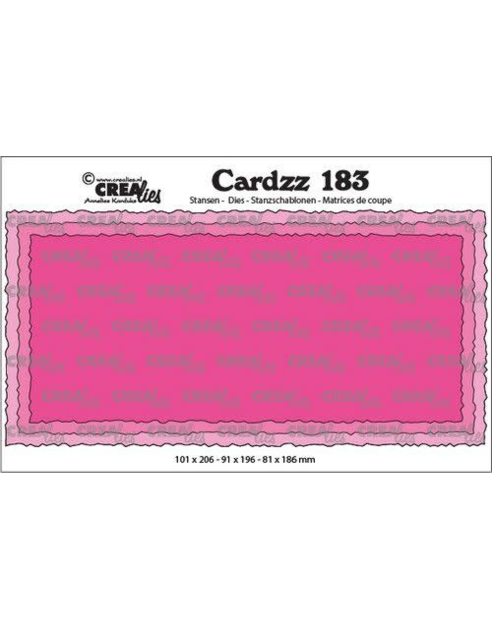 Crealies Crealies Cardzz Slimline C CLCZ183 100 x 205 mm