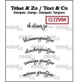 Crealies Crealies Clearstamp Tekst & Zo Gebogen: ik stuur je… (NL) CLTZV04 6x26 mm