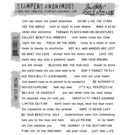 Stampers Anonymous Stampers Anonymous Tim Holtz Cling Mount Stamps - Tiny Text CMS394
