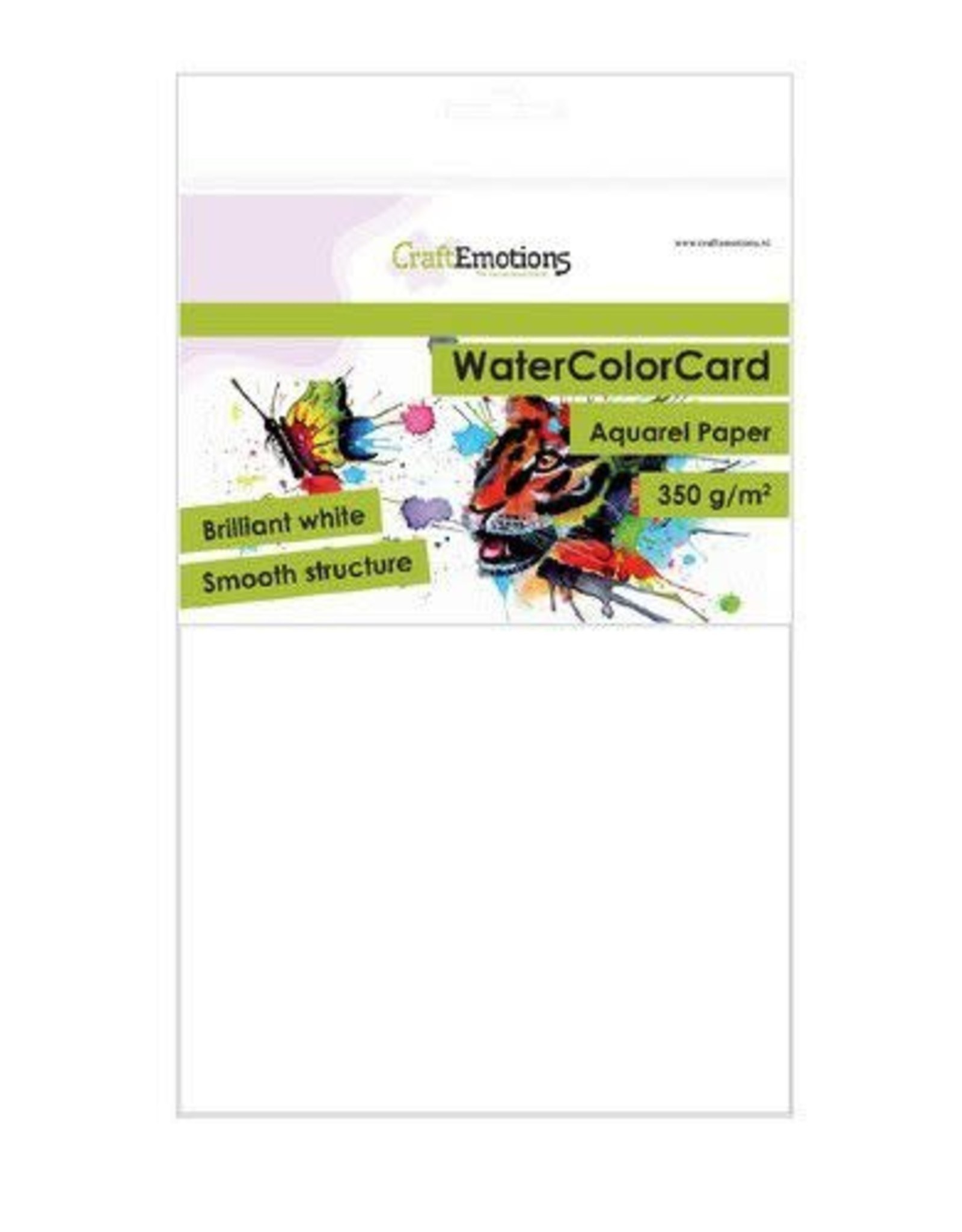 Craft Emotions CraftEmotions WaterColorCard - briljant wit 10 vl A5 - 350 gr