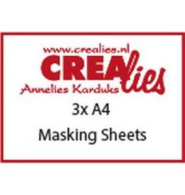 Crealies Crealies Basis Masking Sheets 3x A4 CLBSMS 3x A4