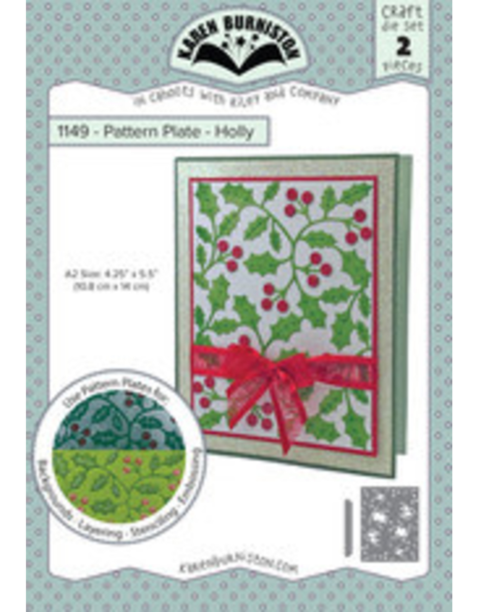 Karen Burniston Karen Burniston Patern Plate Holly 1149