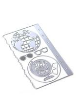 Elizabeth Craft Designs Elizabeth Craft Designs Planner Essentials 28 - Globe 1803