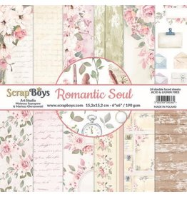 Scrapboys ScrapBoys Romantic Soul paperpad 24 vl+cut out elements-15,2 x 15,2cm