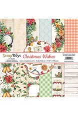 Scrapboys ScrapBoys Christmas Wishes paperpad 24 vl+cut out elements- 15,2 x 15,2cm
