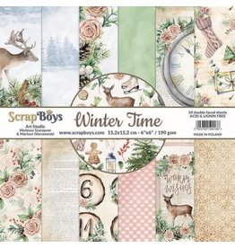 Scrapboys ScrapBoys Winter Time paperset 12 vl+cut out elements-DZ WITI-08 190gr 30,5 x 30,5cm