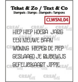 Crealies Crealies Clearstamp Tekst & Zo woordstrips Hoera (NL) CLWSNL04