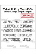 Crealies Crealies Clearstamp Tekst & Zo woordstrips Jij bent een... (NL) CLWSNL09